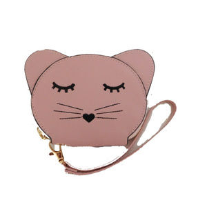 PINK KITTY FACE COIN PURSE/ WRISTLET